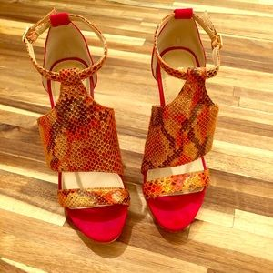 Bebe Red Hot Heels